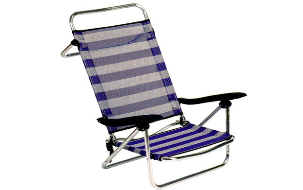 Silla de playa reclinable - Silla tumbona plegable ...
